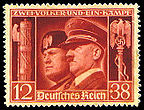Mussolini & Hitler fasces
