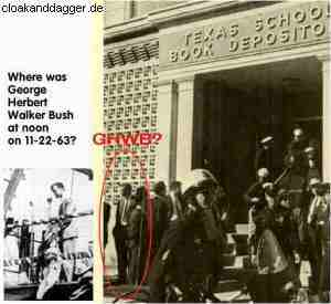 Bush I outside Book Depository when JFK was assassinated before JFK assassinated the CIA